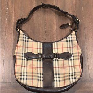 Burberry Haymarket buckle shoulder bag